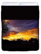 Sunset Over The Mc Dowell Mountains Duvet Cover
