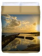 Sunset Over The Ocean II Duvet Cover by Marco Oliveira