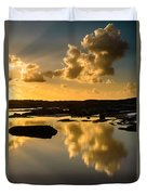 Sunset Over The Ocean V Duvet Cover by Marco Oliveira