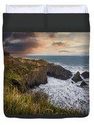 Sunset Over The Oregon Coast Duvet Cover