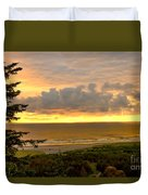 Sunset Over The Pacific Ocean Duvet Cover