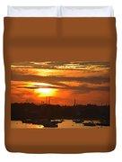 Sunset Over The Salem Willows Duvet Cover