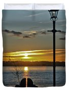 Sunset Over The Solent Duvet Cover