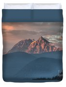 Sunset Over The Tantalus Mountains In Squamish Duvet Cover