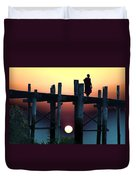 Sunset Over The U Bein Foot Bridge 2 Duvet Cover