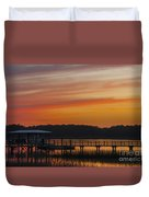Sunset Over The Wando River Duvet Cover