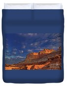 Sunset Over The Waterpocket Fold Capitol Reef National Park Duvet Cover