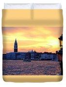 Sunset Over Venice Duvet Cover