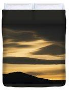Sunset Painted Hills John Day Nm Oregon Duvet Cover