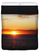 Sunset Painting - Orange Glow Duvet Cover