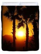 Sunset Palms Duvet Cover