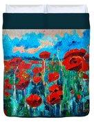 Sunset Poppies Duvet Cover