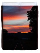 Sunset Rail In The Rogue Valley Duvet Cover