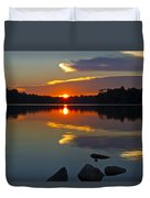Sunset Reflection On The Lake Duvet Cover