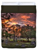 Sunset Reflections And Life Duvet Cover