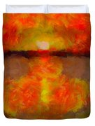 Sunset Reflections On The Dock Duvet Cover