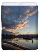 Sunset Ripples In Time Duvet Cover