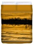 Sunset Riverlands West Alton Mo Sepia Tone Dsc03319 Duvet Cover