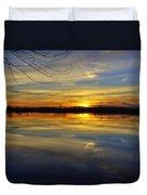 Sunset Riverlands West Alton Mo Dsc03329 Duvet Cover
