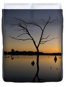 Sunset Riverlands West Alton Mo Portrait Dsc06670 Duvet Cover