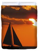 Key West Sunset Sail 3 Duvet Cover