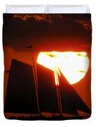Key West Sunset Sail 5 Duvet Cover