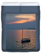 Sunset Sailboat Duvet Cover