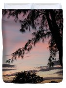 Sunset Sainte Marie-reunion Island-indian Ocean Duvet Cover by Francoise Leandre
