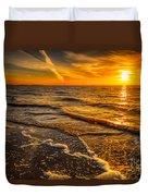 Sunset Seascape Duvet Cover by Adrian Evans