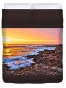 Sunset Shore Break Duvet Cover