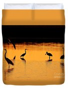 Sunset Silhouette Duvet Cover by Al Powell Photography USA