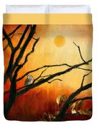 Sunset Sitting Duvet Cover by Lourry Legarde