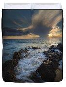 Sunset Spillway Duvet Cover