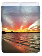 Sunset Streaks Duvet Cover