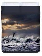 Sunset Surfer Duvet Cover