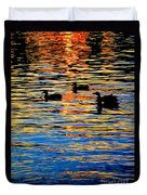 Sunset Swim Duvet Cover