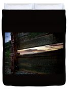 Sunset Throough The Fence Duvet Cover