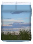 Sunset Through Grass Duvet Cover