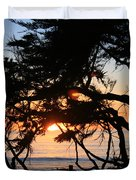 Sunset Through The Cypress Trees Cambria Duvet Cover
