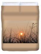 Sunset Through The Grass - Villas New Jersey Duvet Cover by Bill Cannon
