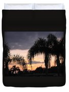 Sunset Through The Palms Duvet Cover
