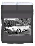 Sunset Thunderbird Bw Palm Springs Duvet Cover