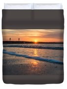 Sunset Tourists Duvet Cover