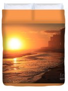 Sunset Towers Duvet Cover
