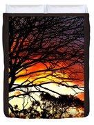 Sunset Tree Silhouette Duvet Cover