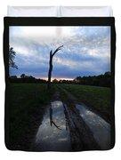 Sunset Treeflection Duvet Cover