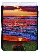 Sunset Turtle By Diana Sainz Duvet Cover