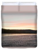 Sunset Twilight Over Taiga At Yukon River Canada Duvet Cover