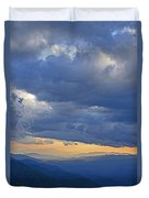 Sunset Under The Clouds Duvet Cover