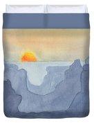 Sunset Valley Duvet Cover